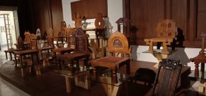 Classical Mauryan chairs designed by Upendra Maharathi