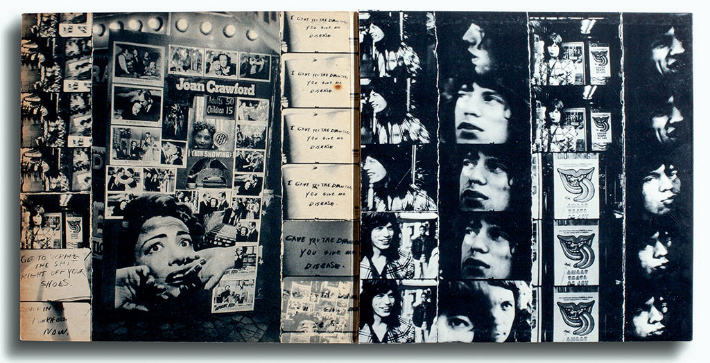 Vinyl: The Rolling Stones, Exile on Main St., Rolling Stones Records - COC 69100, England, 1972. Photograph by Robert Frank. Designed by John van Hamersveld/ Norman Seeff.