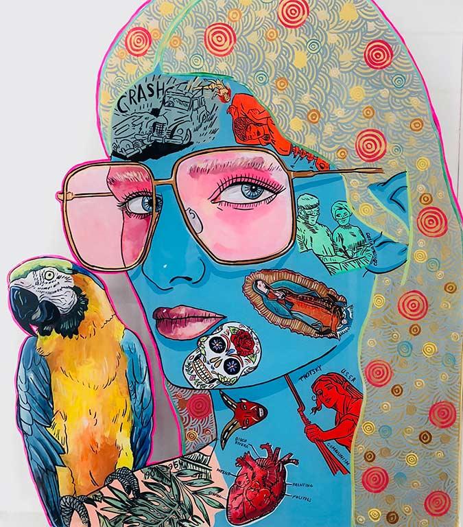 Ron Mueck Mask Yayoi Kusam polka dot Julian Voss-Andreae, Annabelle Sam Mitchell, Frida Kahlo