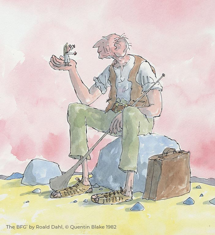 Mister Magnolia O is for Ostrich the bfg roald dahl Quentin Blake A Christmas Carol