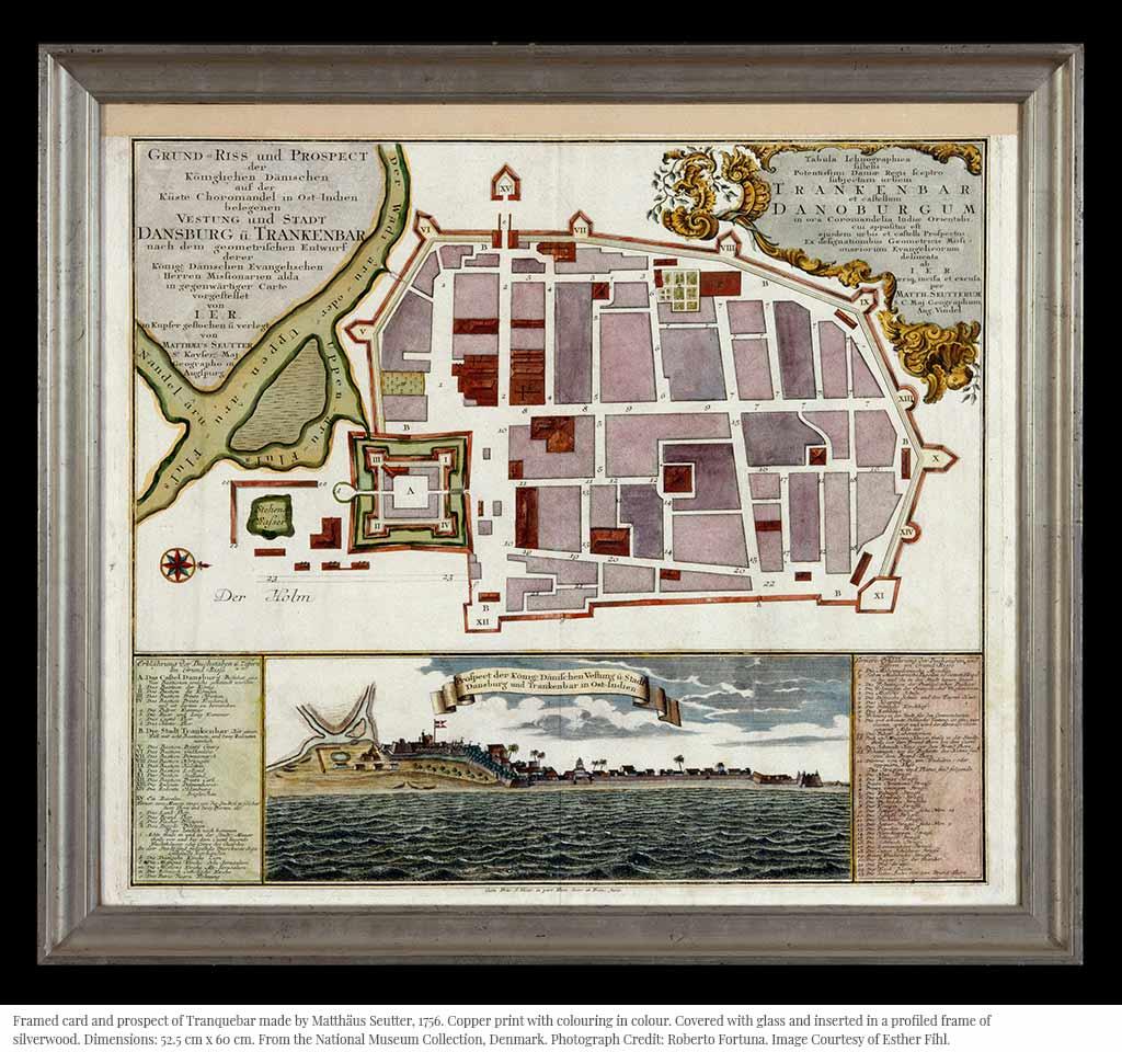 National Museum Collection, Denmark Jens Damborg Tranquebar Esther Fihl King Serfoji II Matthäus Seutter Copper print
