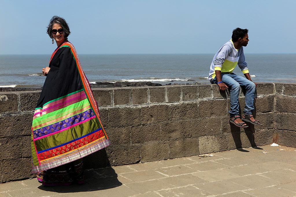Viji Venkatesh, Green and Black Chiffon Saree