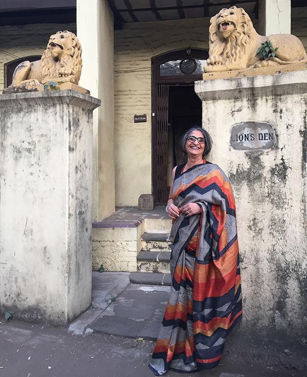 Viji Venkatesh, Printed Tussar Silk Saree