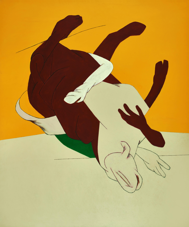 Tyeb Mehta, Bull, Oil on Canvas, 2000, Winning Bid