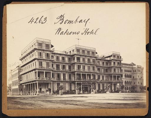 Watson's Hotel in Bombay, 19th century photograph